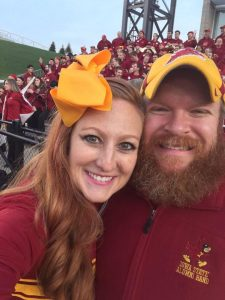 Adam and Allison at jack Trice newer photo