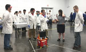 Chem-E-Car crew at compeition