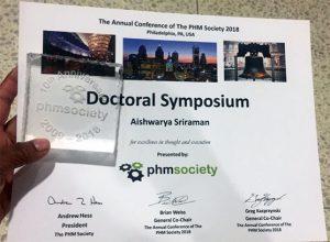 Aishwarya Sriraman Doctoral Symposium Award