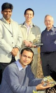 Ratnesh Kumar (far left) with Robert Weber (far right).