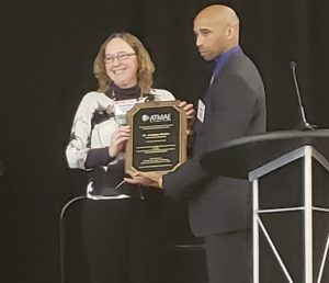 Gretchen Mosher with ATMAE Faculty Excellence Award