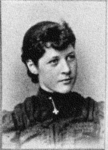 Alda Wilson's photo from the 1894 edition of The Bomb, Iowa State's first yearbook. <i> Special Collections, Iowa State University.</i>