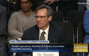 Shanks testifying to US Senate