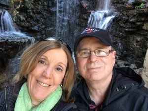 Fratini <i>(left)</i> and her husband, Tony, pause during one of their wilderness hikes for a quick photo. <br /> <i>Courtesy Fratini</i>