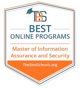 Image badge showing best online programs title