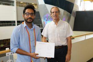 REX awardee Rajarshi Biswas(left) and nominator Paul Durbin