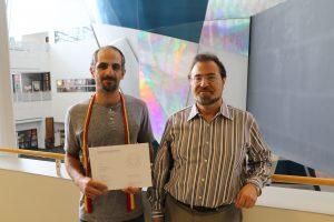 REX awardee Mehdi Kamrani(left) and nominator Valery Levitas