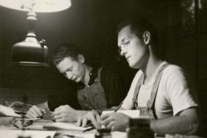 Students took a variety of classes while studying at Camp Marston, including computation <i>(pictured above)</i>.