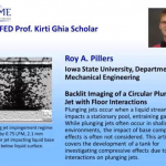 ME graduate student earns top ASME Fluid Engineering Division award