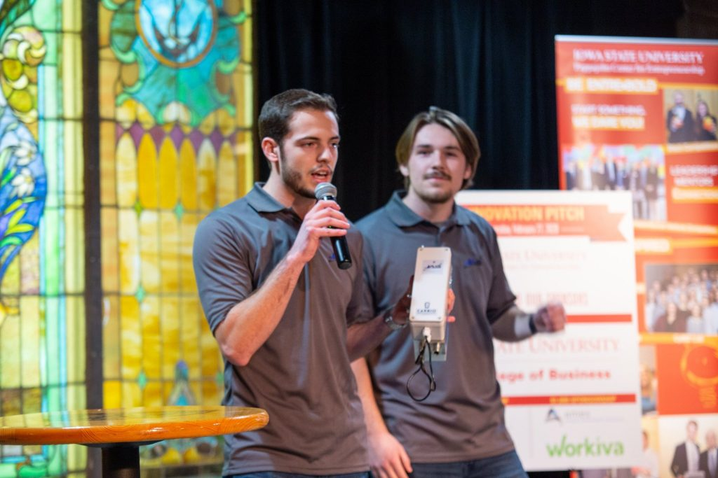 The Jensen brothers present during a pitch competition
