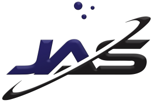 A purple and black logo for Jensen Applied Sciences
