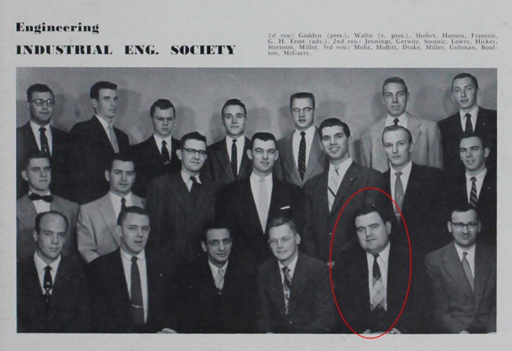 The 1955-56 student chapter of the Industrial Engineering Society