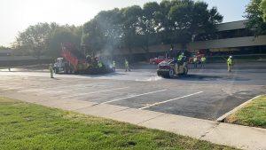 Parking lot biobased asphalt paving test