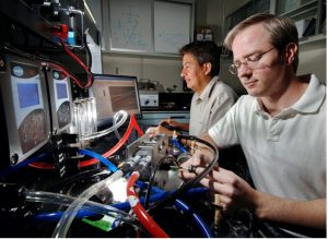 Cornelius works with a post-doc at Sandia National Lab