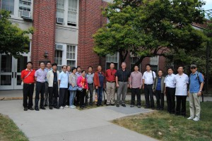 The Chinese Ministry of Agriculture visits Davidson Hall.