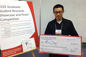 """Bin Tong, 1st Place, """"Seismic Deformation Evaluation for Improved Caisson Quay Walls"""""""
