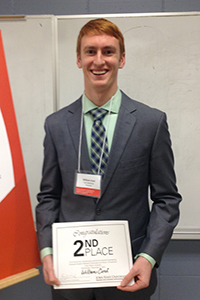 """William Cord, 2nd Place, """"Prevention of Ice Formation on Paved Surface"""""""