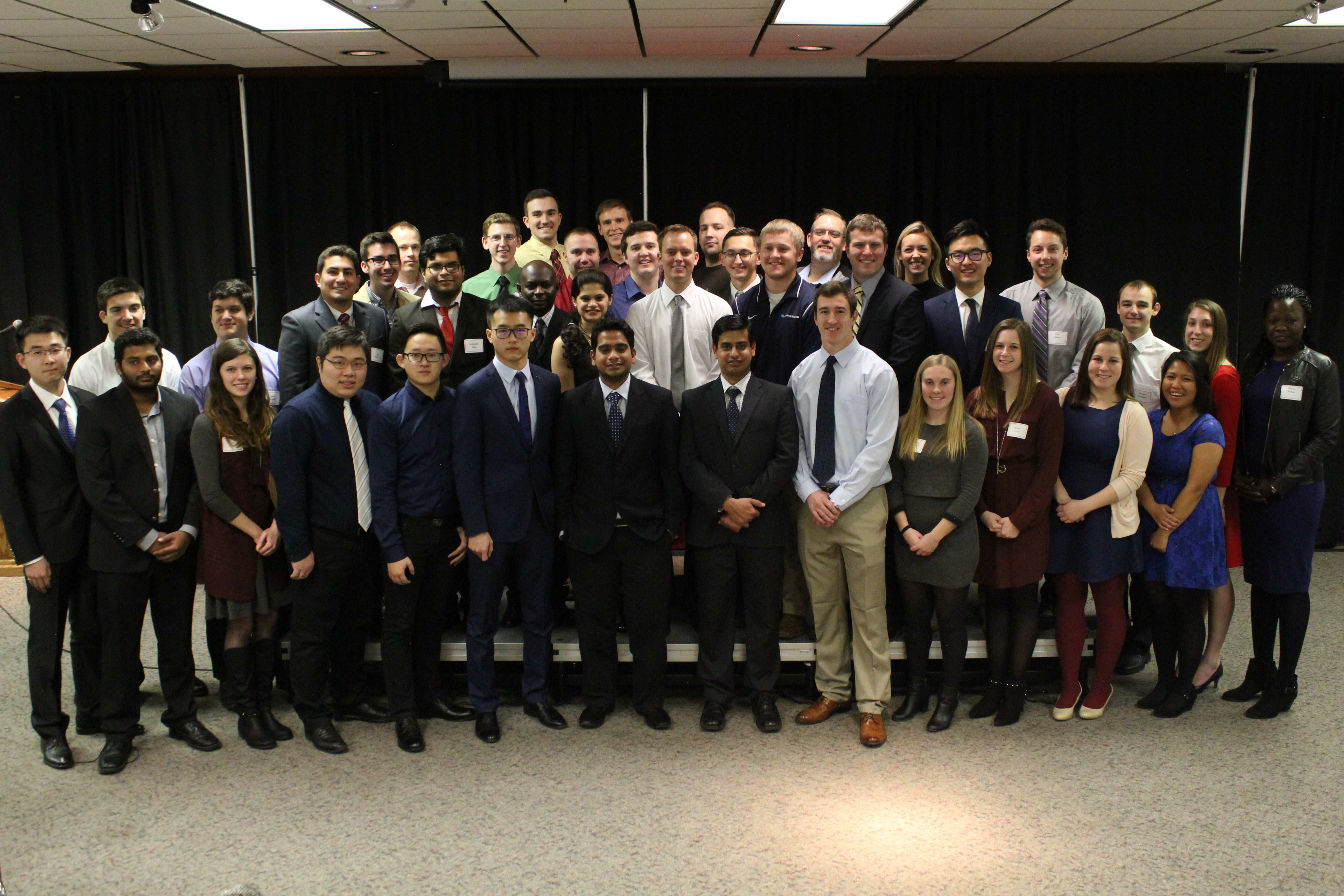 Fall class of 2016 civil engineering graduates (photo by Kate Tindall)